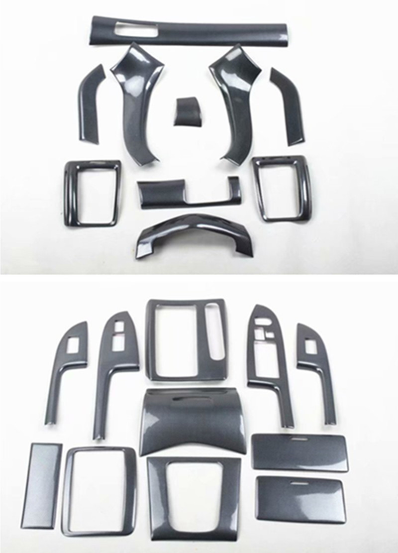 1lot Car Stickers ABS Carbon Fiber Grain Inside Decoration Cover  For 2003-2007 HONDA Accord 7 MK7