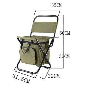 Image 5 - Çok fonksiyonlu açık katlanır tabure taşınabilir buz torbası taburesi yalıtım çantası balıkçı taburesi plaj sandalyesi hafif tabure