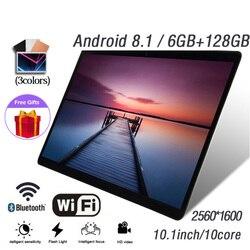 Горячая Распродажа 10,1 InchTen Core 6G + 128G Android 8,1 WiFi планшеты две sim-карты двойная камера Belakang 13.0MP IPS Bluetooth 4G WiFi планшеты