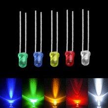 Дропшиппинг 100 шт 3 мм светодиодный свет белый зеленый красный синий желтый светодиод лампы излучающие диод сверх яркие лампы Ассорти Комплект