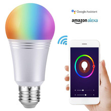 7W WiFi Smart Light Bulb APP Control 85V-265V RGBW Dimmable