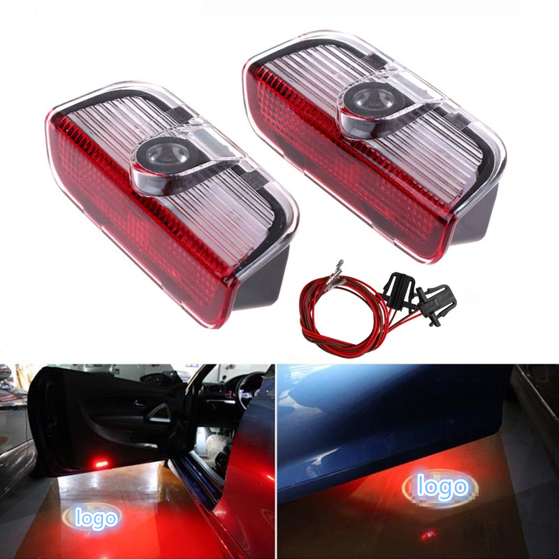 2 pcs Car <font><b>LED</b></font> Door Warning <font><b>Light</b></font> Logo Projector For VW <font><b>Golf</b></font> <font><b>5</b></font> 6 7 Tiguan Touareg Jetta MK5 MK6 CC Passat B6 B7 Sharan Scirocco image