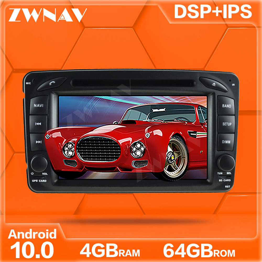 ZWNAV 64GB Android 10 <font><b>Car</b></font> DVD For <font><b>Mercedes</b></font> Benz CLK W203 <font><b>W208</b></font> W209 W210 W463 Vito Viano 2din auto <font><b>radio</b></font> stereo <font><b>with</b></font> dsp Stereo image