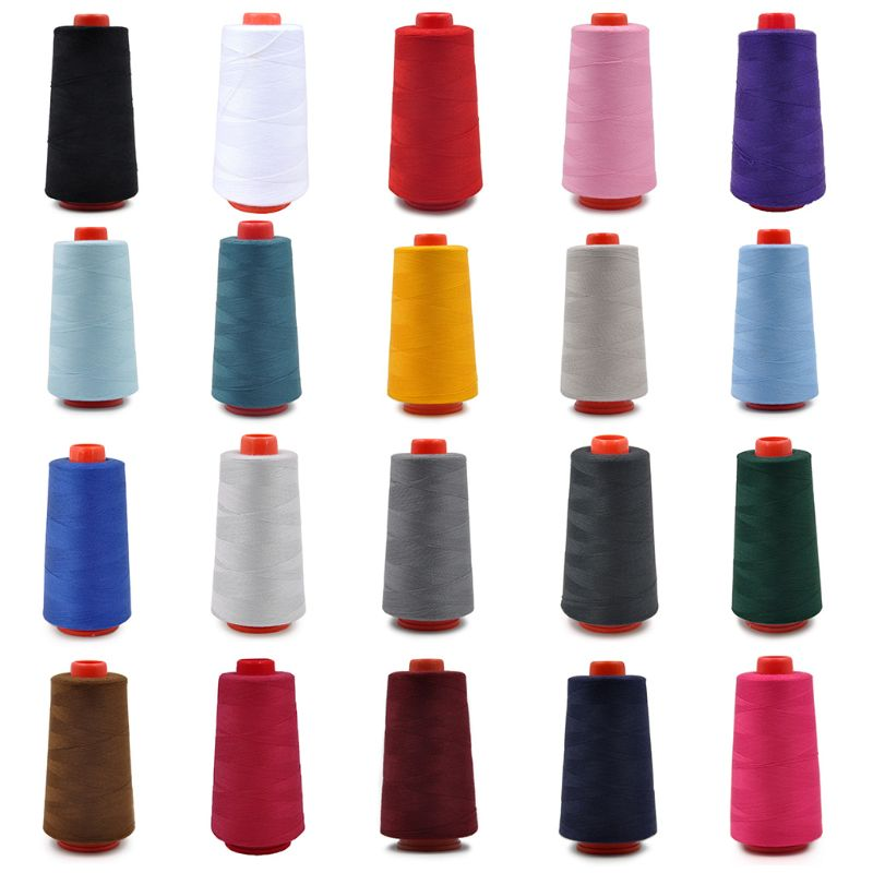 40S/2 Yards Polyester Sewing Thread Multicolored Embroidery Stitching Yarn DIY Craft Knitting Accessories