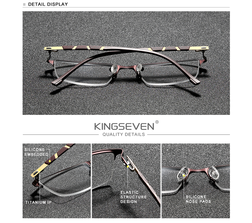 KINGSEVEN Titanium Glasses Frame Women Vintage Round Myopia Optical Prescription Eyeglass Frame Men 2020 New Oval Eyewear