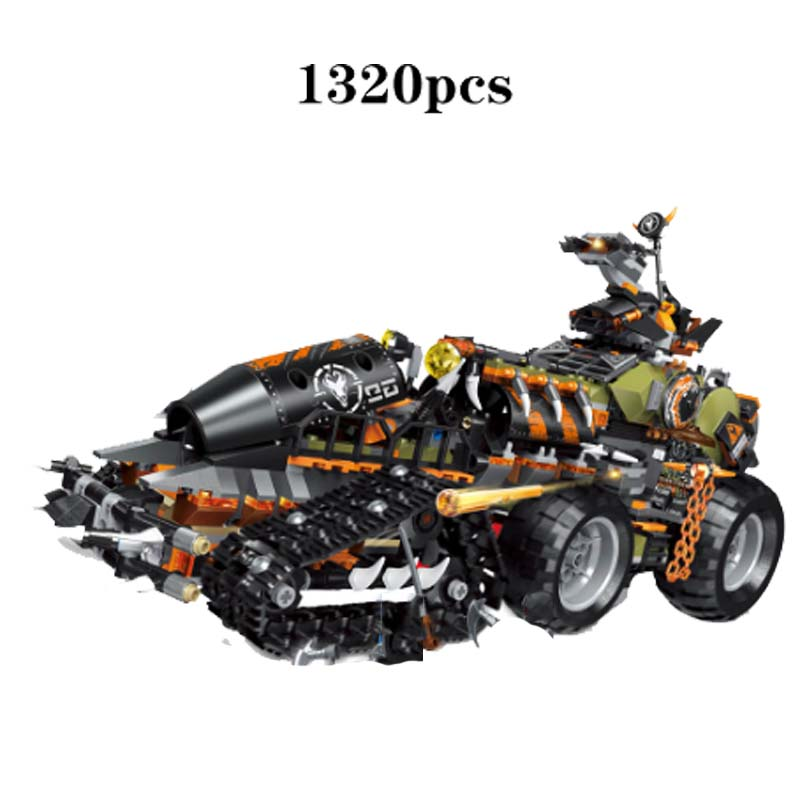 2019 Ninja Series Brick Toys compatible legoingery NinjagoING 70654 Building Blocks Playset Battle Tank Figures Hunted Car Toys in Blocks from Toys Hobbies