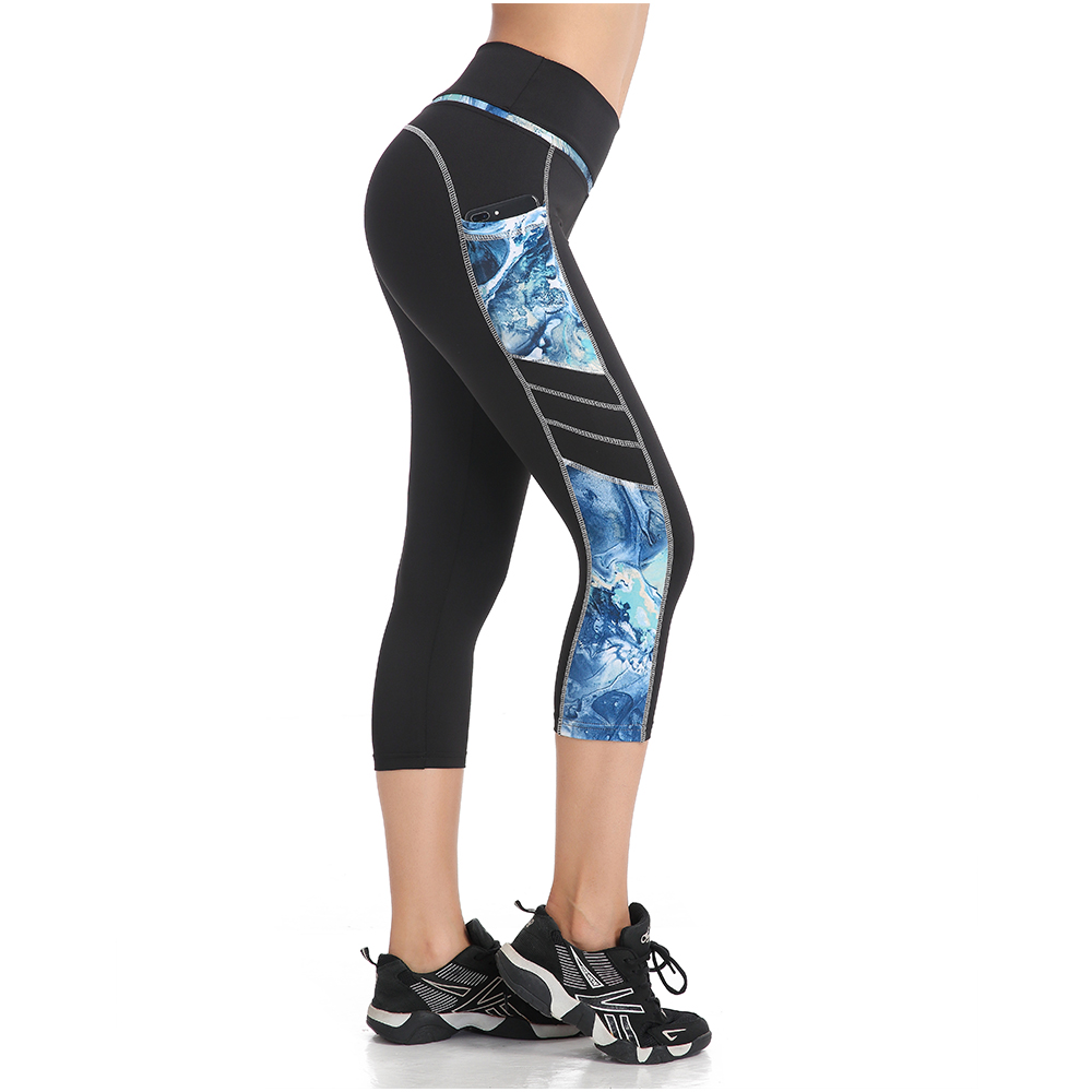 EAST HONG Womens Running Fitness Leggings Compression Capri Gym Sports Tight Leggings