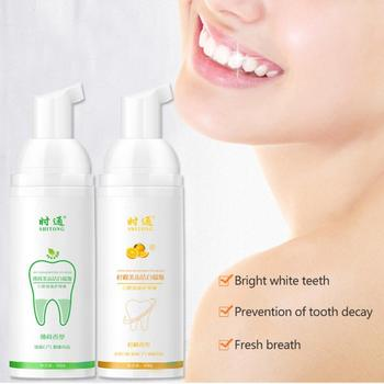 Oral Care Tooth Whitening Bleach Oral Hygiene Mousse Remove Stain Foam Toothpaste Mouth Cleaning Product 60ml