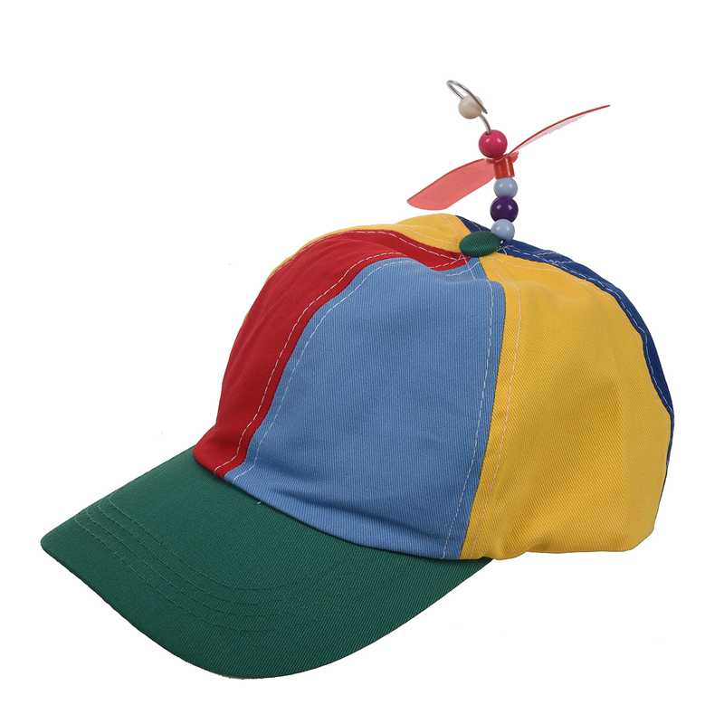Adjustable Propeller Ball Cap Hat Multi-Color Clown Costume Accessory breathable