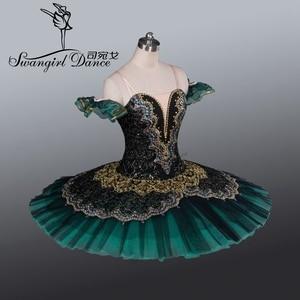Image 2 - Tutú de Ballet profesional para adultos Tutús de ballet clásico para niñas, color negro y verde, nutcrackererbt8941