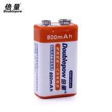 1pcs/lot Doublepow 9V Rechargeable Battery 800mAh li-ion + Box