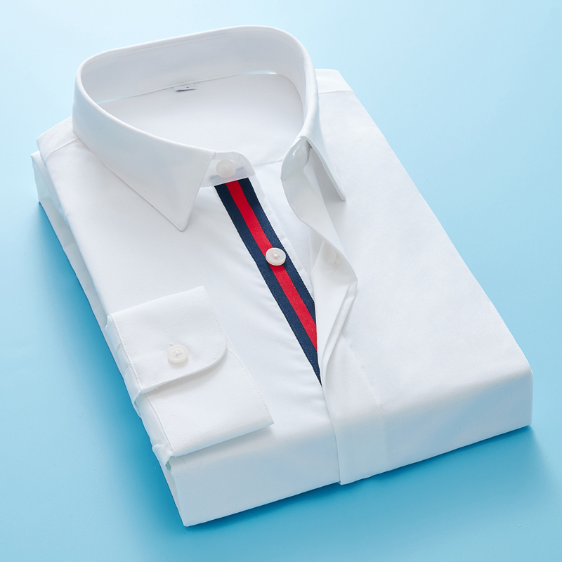Mens Shirts Men's Leisure Fashion High Quality Men's Epaulettes Two Color Business Casual Men Shirt Long Sleeve