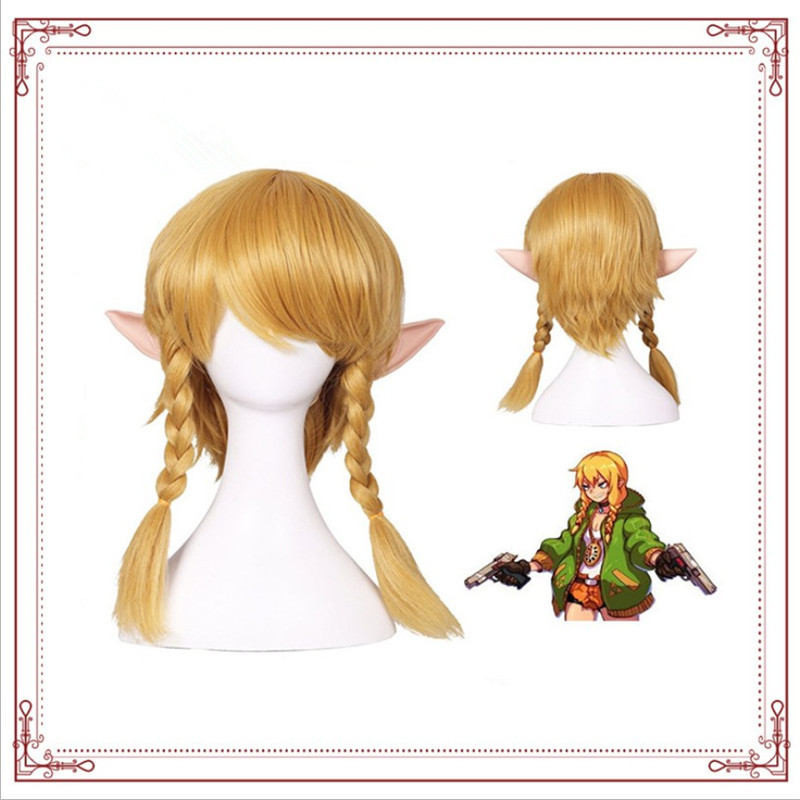 Anime games cosplay Zelda Breath Of The Wild Character wig Golden high quality 1:1 Halloween makeup party costume accessories image