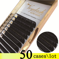 Viplash Free Shipping 50 Cases Eyelash Extensions Korean PBT Fiber Volume Lashes Premium Black Mink Lashes Maquillaje Cilios