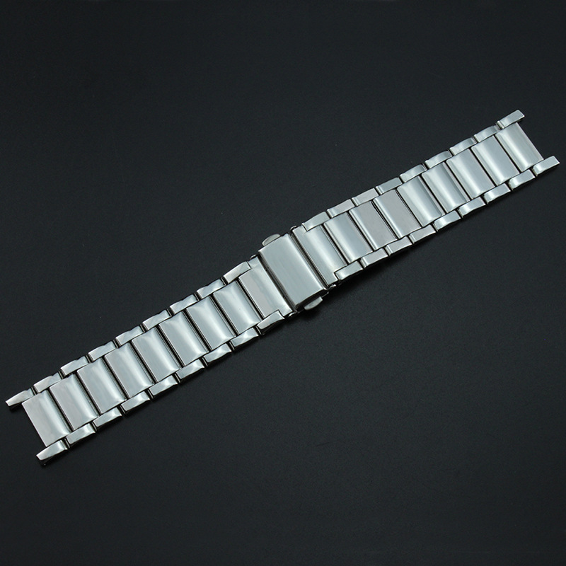 Watch Accessories Stainless Steel Watch Band Notch 20X14 Mm Steel Belt Steel Chain Metal Watch Strap Men's Notch Watch Bracelet