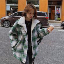 Зимнее женское пальто со стоячим воротником в Корейском стиле;