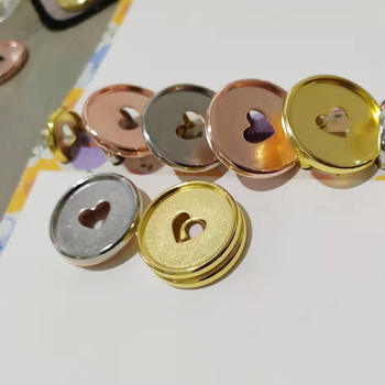 24PCS 35MM Colourful Binding Disc Mushroom HoleButton Notepad Plastic Loose-leaf Plastic Disc Buckle Paper Clip Office&school