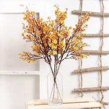 Fausses fleurs artificielles Gypsophila, branche blanche de bonne qualité, long bouquet, décoration pour mariage et maison, automne