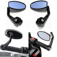 Universal Motorcycle Rearview Mirrors 7/8 For YAMAHA DUCATI Cafe Racer Victory Triumph Daytona for bajaj moto
