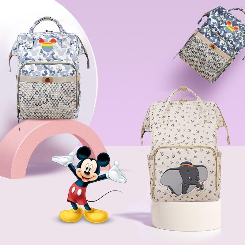 Disney Minnie Mickey mignon sac à couches bébé sac pour maman USB couche sac à dos maternité chariot poussette sac pour bébé trucs 2020