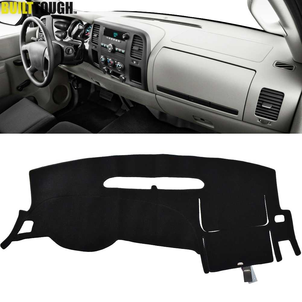 Untuk Chevrolet Silverado 1500 LT HD WT 4X4 2007 - 2013 Dashboard Cover Dashmat Dash Mat Pad Sun warna Dash Board Cover Karpet