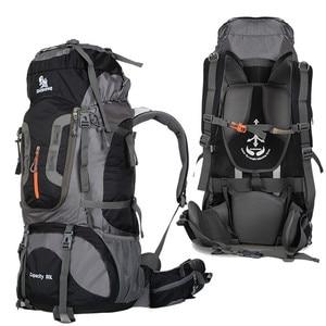 Image 4 - 2020 Camping Hiking Backpacks Big Outdoor Bag Backpack Nylon Superlight Sport Travel Bag Aluminum Alloy Support  80L