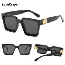Vintage Oversized Square Sunglasses Women Brand Designer Lux