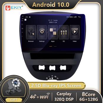 EKIY DSP 6G 128G Autoradio na androida dla Toyota Aygo dla Citroen C1 dla Peugeot 107 samochodów Radio odtwarzacz multimedialny nawigacja GPS DVD tanie i dobre opinie CN (pochodzenie) Double Din NONE 10 1 4*45w Jpeg ABS + Metal 1280*720 1 5kg Nadajnik fm Tuner radiowy Wbudowany gps Telefon komórkowy
