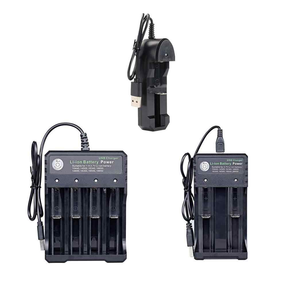18650 Charger Single Double 4 Slot 3.7 V Battery Charger Multifungsi Biaya Universal Senter Charger