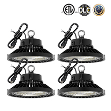 4 Pack 100W 150W 200W 240W UFO Led High Bay Light 1-10V Dimmable Commercial Industrial Lamp Warehouse Garage Shop Lighting 5000K cheap NoEnName_Null CN(Origin) ROHS Wedge None Aluminum 85-265V LED Bulbs 5 Years