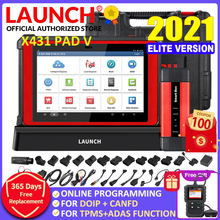 LAUNCH X431 PAD V Online Programming Automotive Full System Diagnostic Tool Car OBD2 Code Reader Scanner Active Test pk X431 V