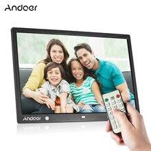 Цифровая фоторамка Andoer, светодиодный экран 15 дюймов 1280*800 HD для музыки, видео, электронной книги, часов, календаря с сенсором и поддержкой пультов дистанционного управления