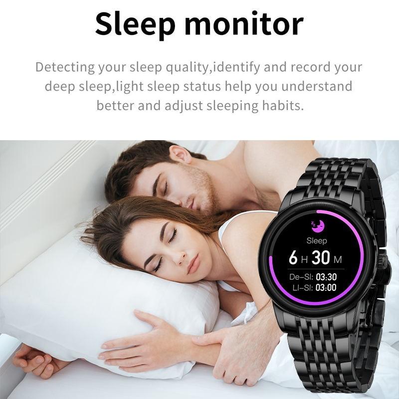 Lige 2020 новые мужские умные часы с пульсометром и контролем