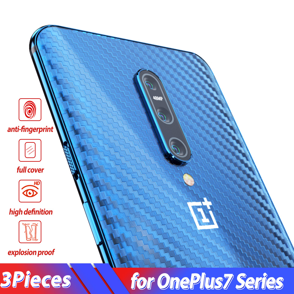 Screen-Protector Sticker Oneplus 7 Carbon-Fiber-Film Back for Soft 7-Pro 5-5t 6-6t