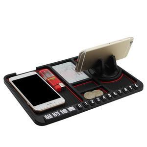 Image 5 - Anti slip multifuncional del tablero de instrumentos del coche de las llaves del teléfono celular Pad de soporte