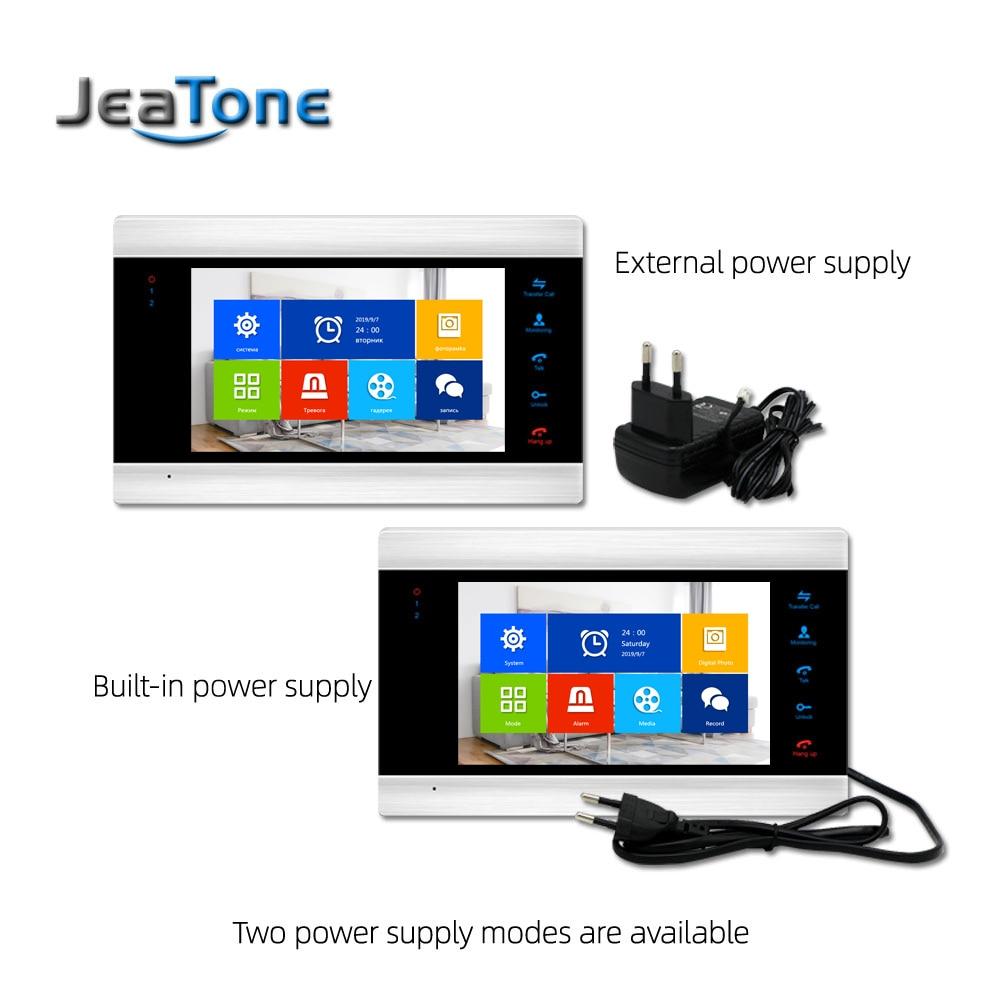 Купить с кэшбэком JeaTone New 7'' WiFi Smart Wired Video Door Phone Intercom System with 720P AHD Doorbell Camera Free App Remote Motion Detection