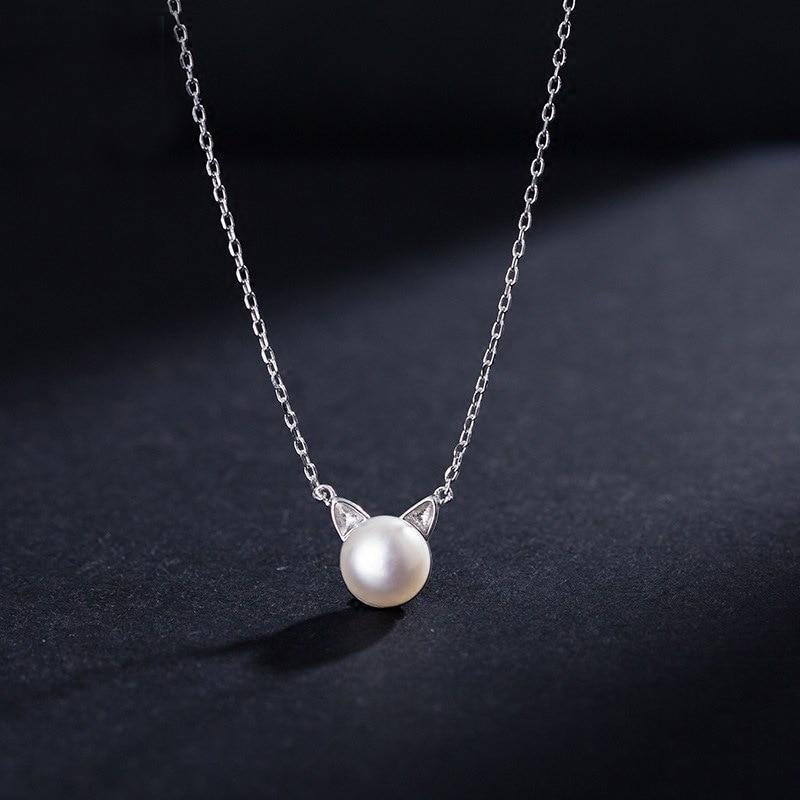 Silverfärgade halsband Katter Hängsmycken Halsband 925 Söt djurhalsband Mode smycken grossist