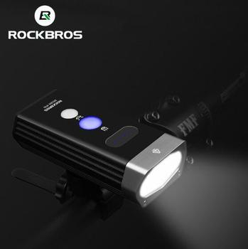 ROCKBROS Front 1800Lm Headlight Cycling Bicycle Bike Light 2 Leds Rechargeable Lamp Lantern Flashlight Bike
