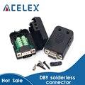Коннектор DB9, Бесконтактный припой, разъем DB9, RS232, DB9, разъём для пайки с разъемом «Мама» и «папа», с разъемом «мама», для соединения с разъемом...