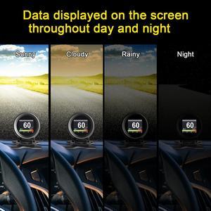 Image 5 - AUTOOL X60 ראש למעלה תצוגה לרכב על לוח מחשב Hud Obd2 השני רכב מנוע קוד קורא דיגיטלי מד מד מהירות אבחון כלי
