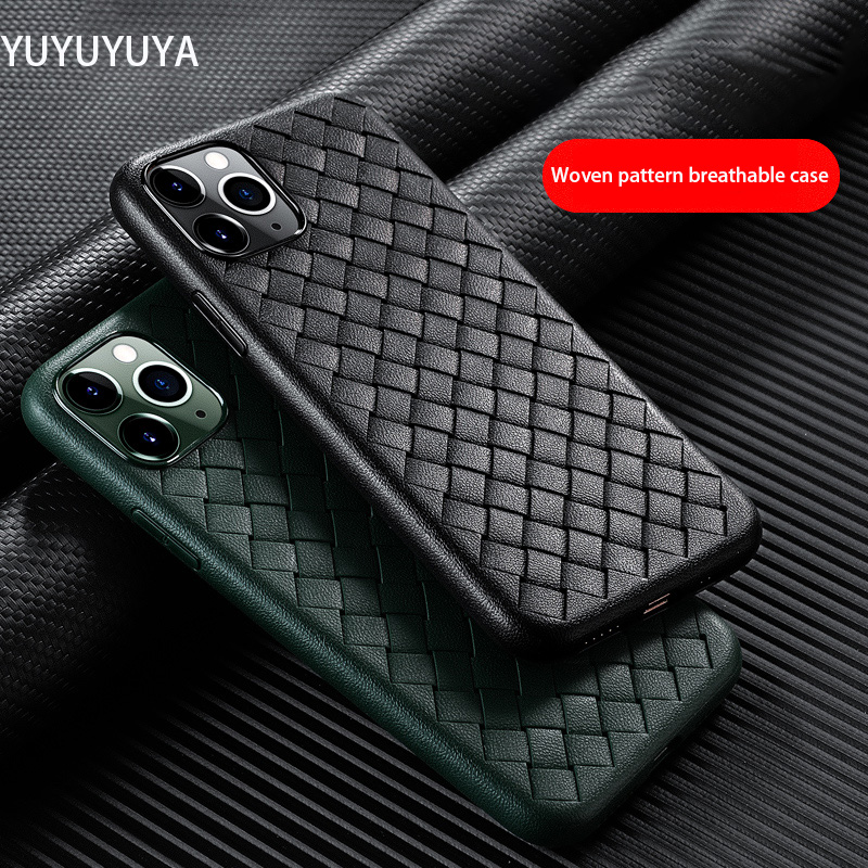For iphone SE 2020 Woven Pattern Silicone Case 11 Pro max 6 6s 7 8 plus x xs max XR All Inclusive Anti-fall Protective case(China)