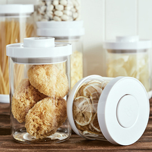 kitchen food storage Sealed Cans Pressed sealed jar grade High borosilicate Transparent Food Canister Storage Box