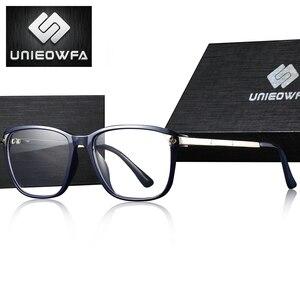 Image 3 - Optik reçete gözlük çerçevesi erkekler açık miyopi gözlük çerçevesi erkek şeffaf gözlük çerçevesi alaşım Tr90 gözlük marka