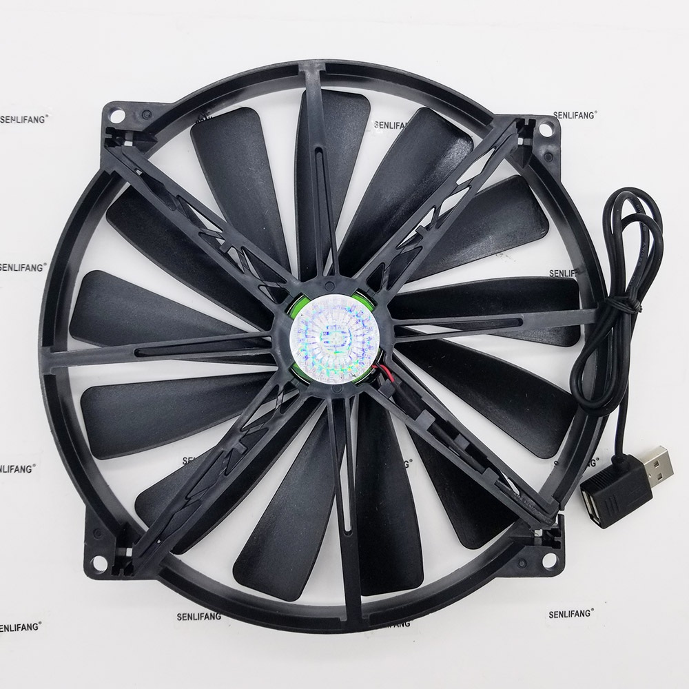 Original A20020-07CA-2JN-F1 DF2002005SELN 5V 0.30A 20cm <font><b>200</b></font>*<font><b>200</b></font>*20MM USB cooling <font><b>fan</b></font> image