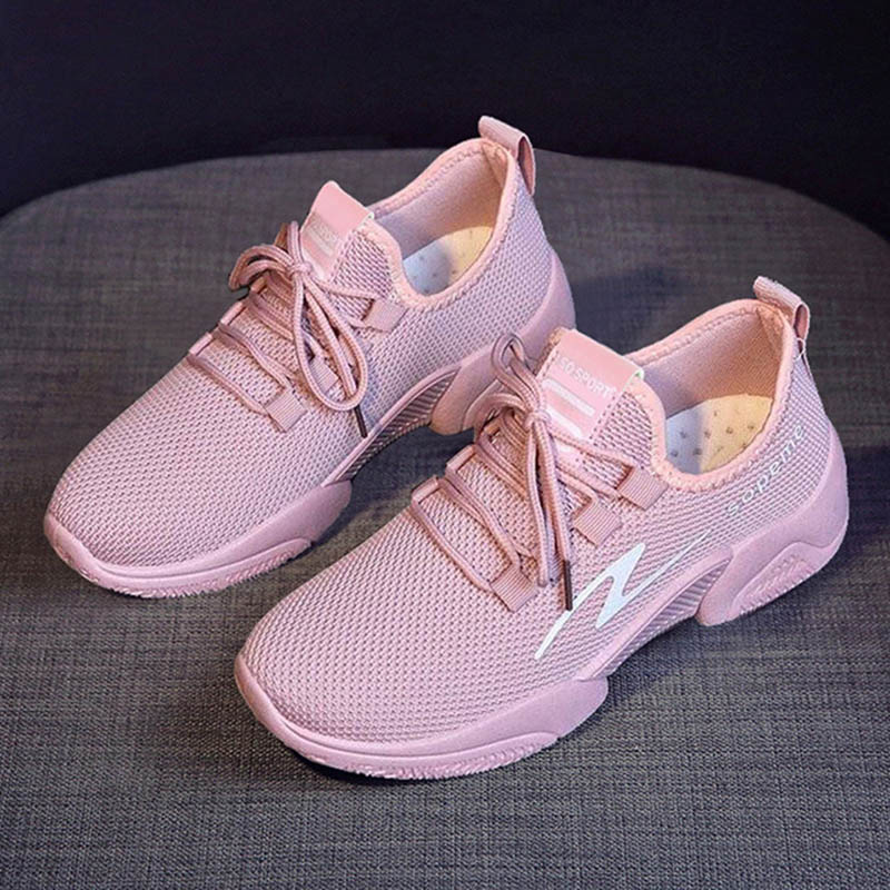 Spring Shoes Women Sneaker Air Mesh Soft Female Sock Knitted Women Vulcanized Shoes Casual Slip On Ladies Flat Women's Footwear