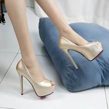 Chaussures à talons hauts et Stiletto pour femme, escarpins de 14 Cm, robe de soirée élégante, pour mariage, automne 2019