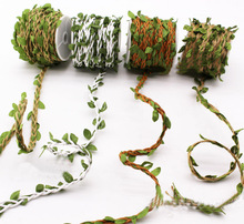 10Meters Leaf Hemp Rope Natural Hessian Jute Twine Burlap Ribbon Cords DIY Wedding Party Flower Gift Packing Home Decor