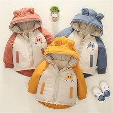 Детская одежда; осенне-зимняя одежда для малышей; милая бархатная куртка; рубашка для мальчиков; хлопковое пальто с капюшоном для малышей
