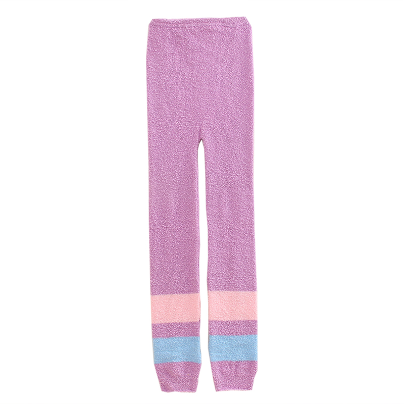 Soft Knit Woolen Pants Thickening Autumn And Winter High Waist Warm Palace Warm Stomach Comfortable Breathable Stretch Pajama Pa