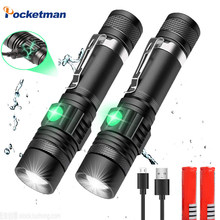 Lanterna de led superbrilhante, 8000 lúmens, t6/l2/v6, usb, com zoom, para bicicleta, usb 18650 recarregável z50